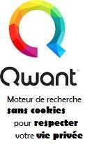 Logo de qwant le moteur de recherche sans cookies qui respecte la vie privée des utilisateurs